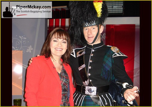 Piper Mckay with Lorraine on itv