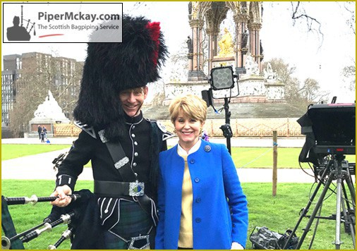 Piper Mckay and Jane Pauley - CBS Film Shoot