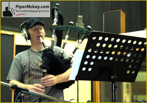 Piper Mckay recording for the BBC