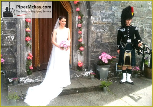 Piper Mckay playing at an Irish Wedding