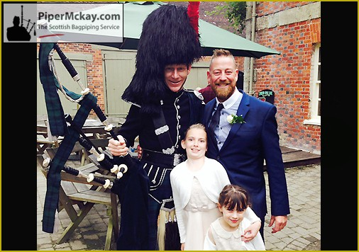 Piper Mckay at a Wedding with Guests