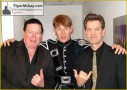 PM back stage ITV with Chris Isaak and Kenney Dale Johnson