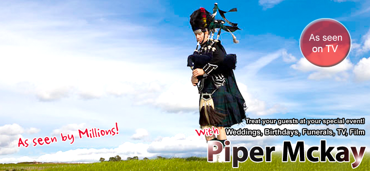 Scottish Bagpiper Hire with Piper Mckay