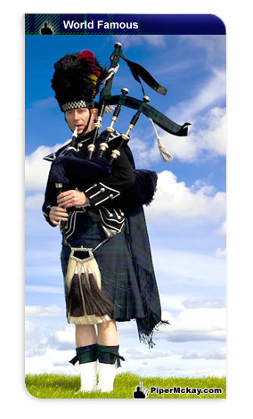 Scottish  Piper Mckay with Class 3, St Andrews day picture