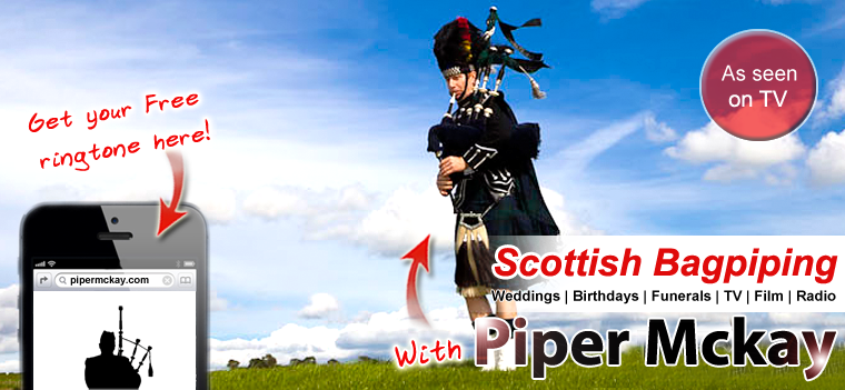 Scottish Bagpiper Hire with Piper Mckay for Weddings, Birthdays, Funerals, TV and Film!