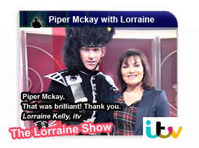 Piper Mckay with Lorraine Kelly