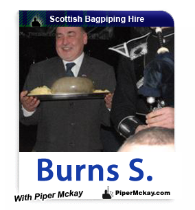 Bagpiper Hire for Burns Night