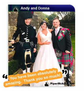 Andy and Donna's Wedding at Clearwell Castle with Piper Mckay