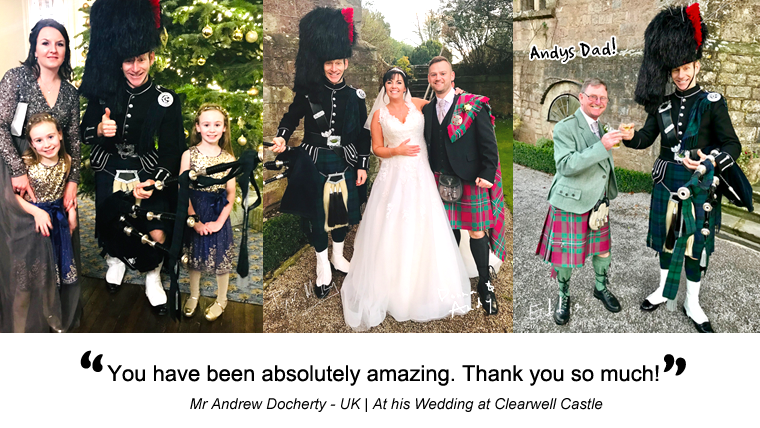 Andy and Donna's Wedding at Clearwell Castle - Mr and Mrs Docherty