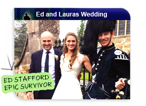 Ed Stafford and Laura Binghams Wedding with Piper Mckay at their Wedding