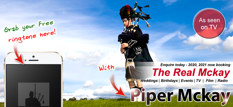 Wow Your Guests with Ultimate Scottish Bagpiping - Piper Mckay - As sen on TV