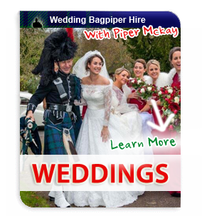 Weddings with Bagpiper Piper Mckay