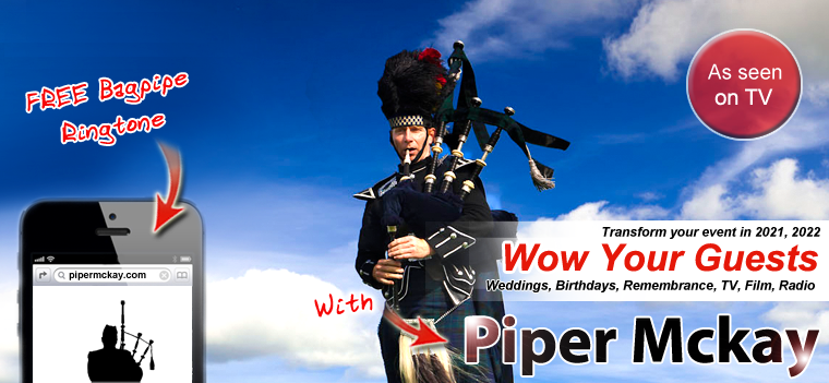 Scottish Bagpiper Piper Mckay Hire