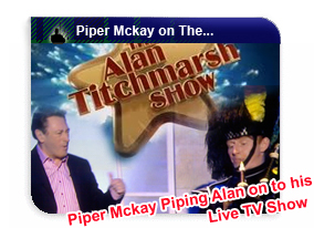 Piper Mckay playing Alan on to his live show!