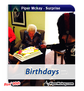 Ros with Piper Mckay on her 90th Birthday